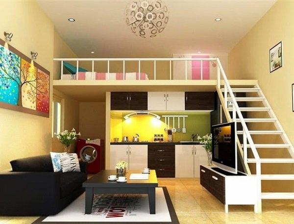 Đơn giản mà đẹp với nội thất vừa vặn bên trong nhà cấp 4 xây dựng gác lửng
