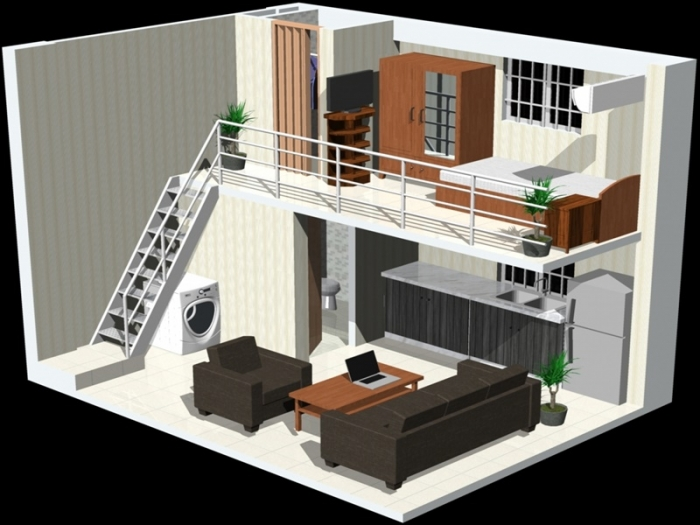 Lựa chọn vị trí và phân bổ diện tích hợp lý cho gác lửng của nhà cấp 4