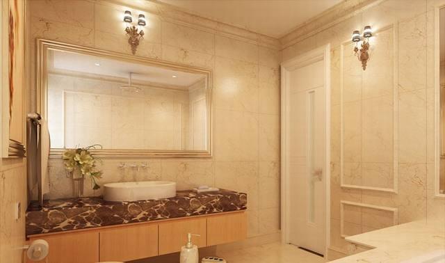 nội thất phòng tắm biệt thự tân cổ điển 3 tầng 15x19m