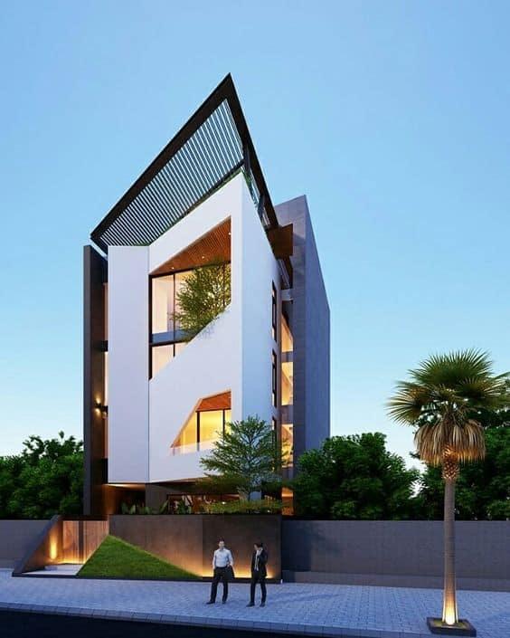 nhà phố hiện đại thiết kế phá cách
