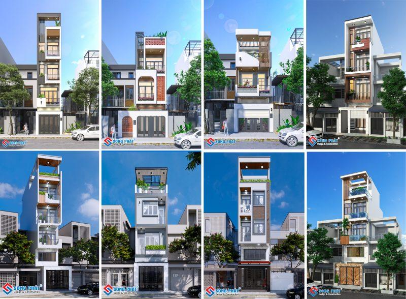 Cách tính diện tích xây dựng cho nhà phố.